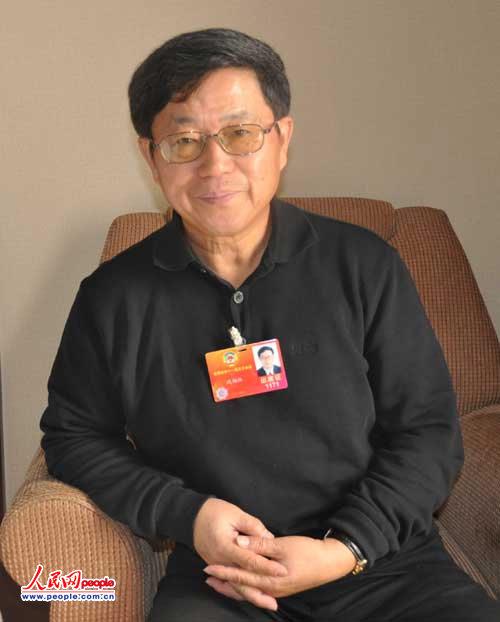 全国政协委员、中国(海南)改革发展研究院院长迟福林。人民网记者 耿宽谋摄