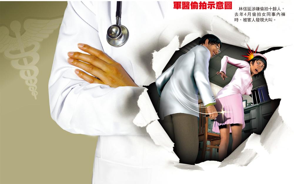 台湾军医官长期偷拍女性裤底 包庇搪塞被