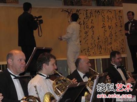 李斌权 中国/李斌权在维也纳金色大厅2011中国书法音乐会现场创作《念奴娇/...