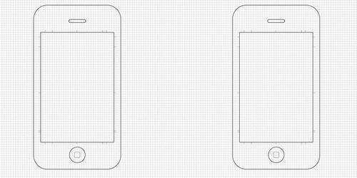 iphone框 手绘