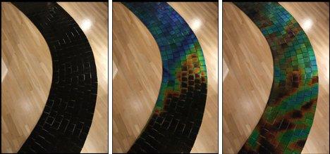 变色瓷砖铺设在地板上使家中增添几份美丽