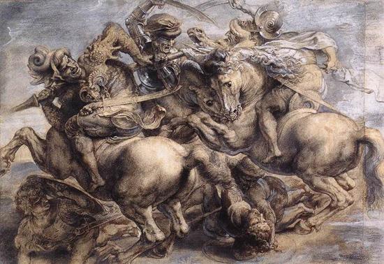 作品 中国 《安吉里之战》/500多年来,曾有多位艺术家根据历史资料模仿创作《安吉里之战...