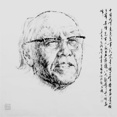 李苦禅中国画 近现代文化精英肖像系列 之十三 王为政 画...