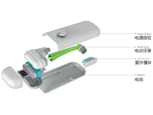 """""""空中飞人""""最爱 创意电动USB旅行牙刷"""