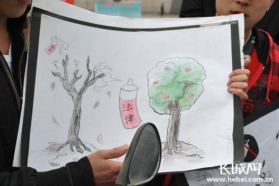 儿童垃圾分类海报手绘
