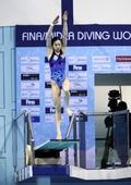 图文:跳水系列赛迪拜站 吴敏霞在女3米板比赛