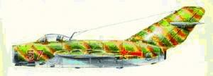 米格-15战斗机 在轰炸大和岛战役中,空三师七团驾驶米格-15喷气式飞机担任为轰炸机编队护航的任务。飞行员牟敦康驾驶的就是这种飞机。