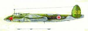 杜-2轰炸机 担任轰炸大和岛任务的就是杜-2轰炸机。这架编号为20的杜-2轰炸机是第一次轰炸大和岛行动中大队长机韩明阳的座机。