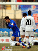 图文:[中超]阿尔滨3-3实德 常琳庆祝