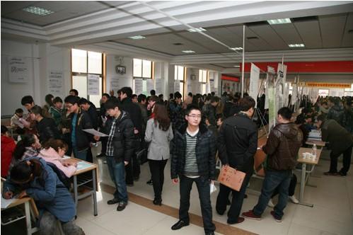 西安思源学院举办2012届毕业生春季招聘会(组