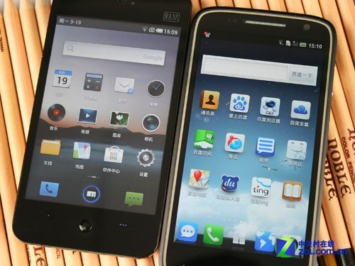 戴尔D43与魅族MX界面UI不同