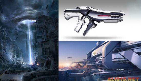 从图片中我们不难看出这位大神设计的游戏场景充满科幻感和未来感图片