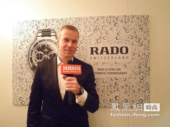 凤凰时尚:您认为此次巴塞尔表展上RADO表最具特色的一款...