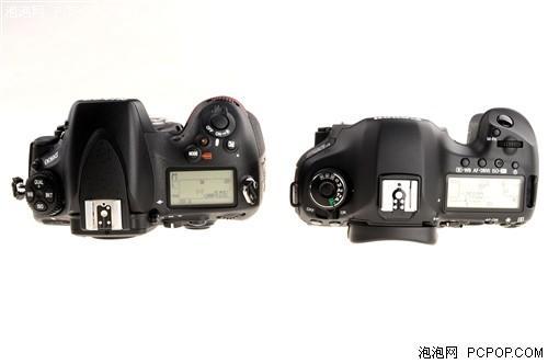 尼康d800与佳能5d iii机顶按键对比
