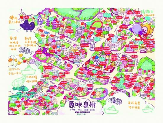 江苏园林地图手绘