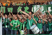 图文:[中超]绿城1-0国安 绿城球迷给力