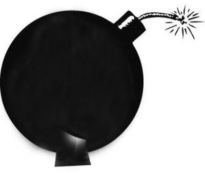 一边钱一边炸弹称矢量图