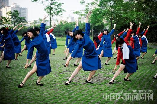 2011年6月29日,重庆奥体中心举行的中华红歌会现场情景。 图/CFP