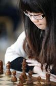 图文:全国国际象棋锦标赛首轮 丁亦昕战平