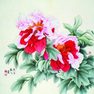 潘瘦竹攻金石篆刻、工笔画已有30多年,刻石已数千方,绘画数...