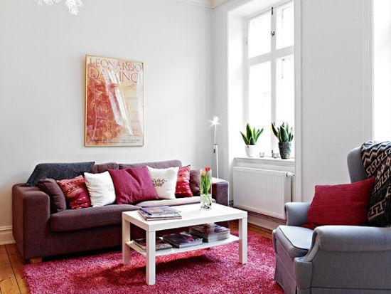 森女的43平单间公寓 靓丽小户型装修很抢眼(组图)