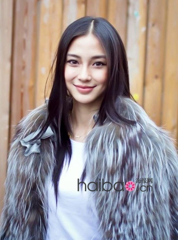 华语女明星3月长发发型示范图片