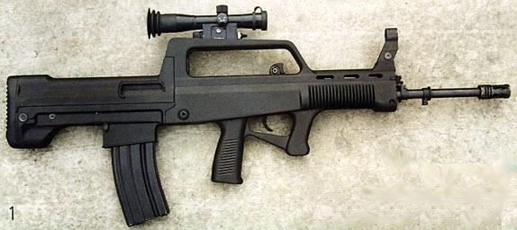 中国 白光/资料图:中国制QBZ97式突击步枪