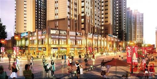莆田万达广场步行街效果图