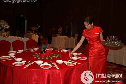 中式宴会摆台比赛.图片