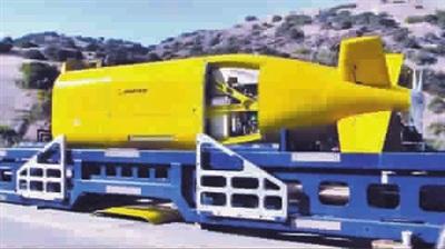 """原文配图:美国波音公司研制的""""EchoRanger""""无人潜艇。"""