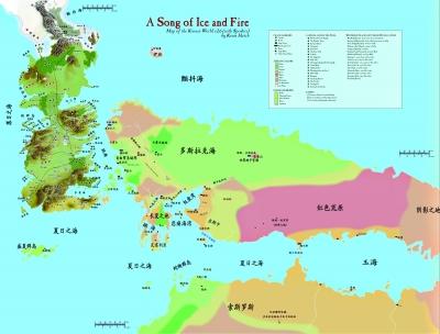 维斯特洛大陆地图
