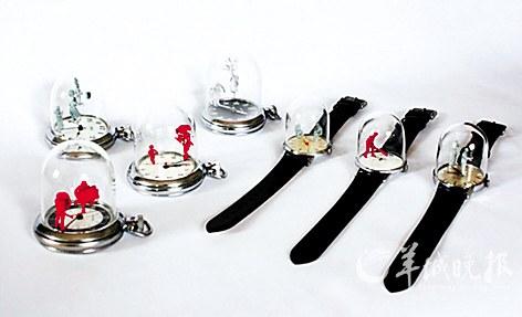 设计师将一系列手表进行改造,让它们在计时的同时,也成为一种有趣的玩具。