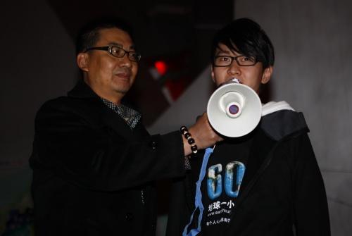 """""""无臂王子""""刘伟致辞"""