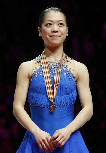 图文:世锦赛女单自由滑 老将铃木明子摘铜
