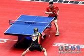 图文:世乒赛中国3-0德国6连冠 对手击球失误
