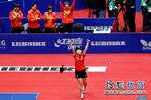 图文:世乒赛中国女团3-0新加坡 郭跃宣告归来