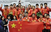 图文:世乒赛中国男团3-0德国队 男团集体合影