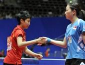 图文:世乒赛中国3-0新加波队 郭跃李佳薇击掌