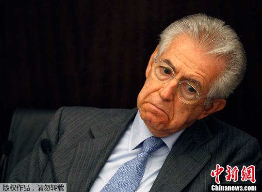"""意大利总理蒙蒂似""""表情帝"""" 抠眼瘪嘴小动作多(组图)"""