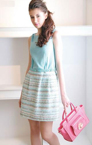 粉红色漆皮拉链Double Bag $2,700