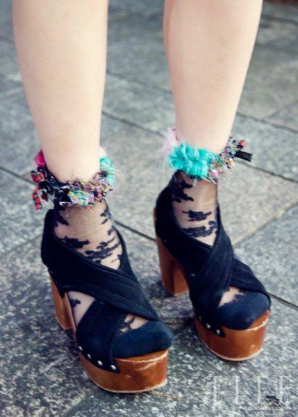街拍/原宿街拍美鞋大搜罗日系复古就要这么玩