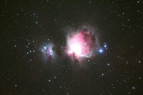 M42星云 480秒曝光 115mm ED望远镜 拍摄