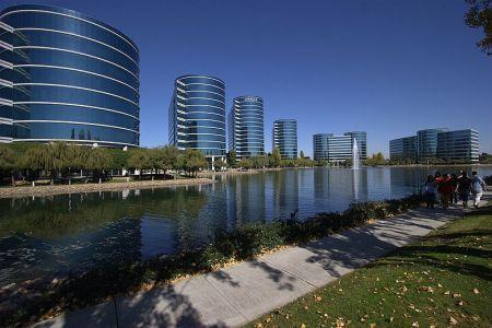 甲骨文公司总部建筑可以说是相当气派:带有数据库含义的圆柱形图片