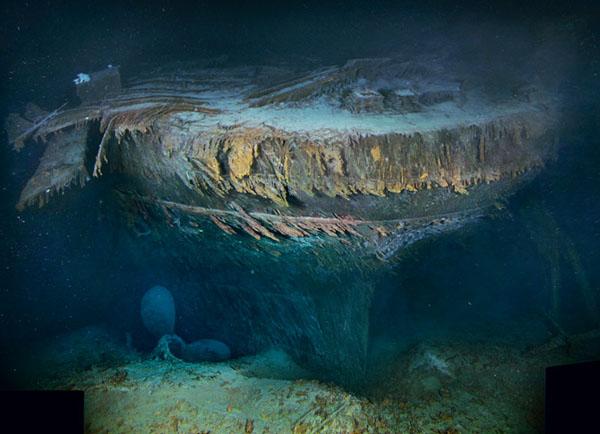 """罕见清晰泰坦尼克水下""""遗照"""""""