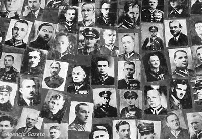 """""""卡廷惨案""""中1.5万波兰军人遭杀害资料图"""