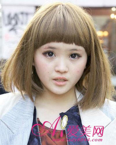日系时尚街拍独家烫发头发染,爱美网美发齐肩揭晓用几号杠图片