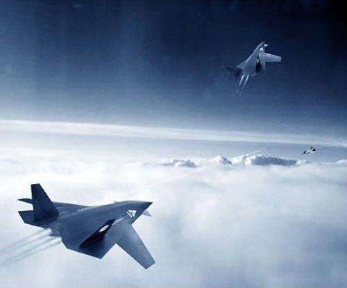 资料图:国产暗箭无人战斗机空战想像图