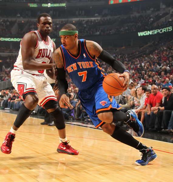 安东尼/图文:[NBA常规赛]尼克斯负公牛 安东尼突破