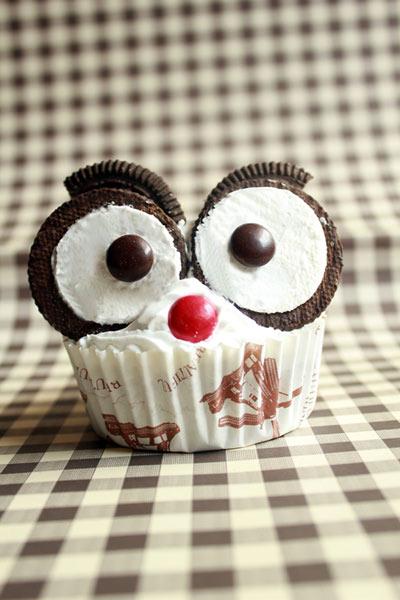猫头鹰杯子蛋糕