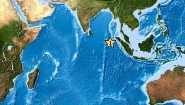 印尼亚齐省附近海域发生里氏8.7级地震。